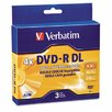 Dual-Layer Dvd-R Discs, 8.5Gb, 4X, 3/Pack