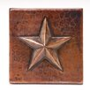 "4"" x 4"" Copper Star Tile in Oil Rubbed Bronze"