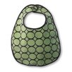 Terry Velour Baby Bib in Pastel Lime with Brown Mod Circles