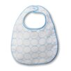 Certified Organic Cotton Baby Bib in Pastel Blue with Mod Circles on Ivory