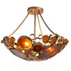 Recycled Fascination 3 Light Semi Flush Mount Ceiling Light