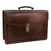 Belting Double Gusset Flap Over Briefcase with Combination Lock