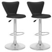 CorLiving Tall Curved Back Adjustable Barstool