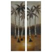 "Palm Trees in the Distance Oil Painting 70"" x 20"""