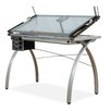 Futura Station Glass Drafting Table