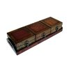 Wooden Treasure Chests with Tray in Brown (Set of 3)