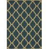 Villa Outdoor Blue Trellis Rug