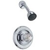 Classic Pressure Balanced Lever Handle Diverter Shower Head with Shower Faucet Trim