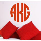 Circle Monogram Wall Decal