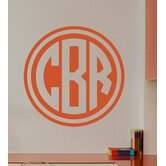 Double Circle Monogram Wall Decal