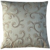 Stiletto Grey Spiral Square Decorative Pillow in Cream