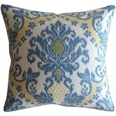 Ikat Linen Decorative Pillow in Blue