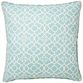 Moroccan Outdoor Square Decorative Pillow in Blue