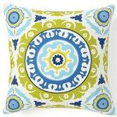Suzani Henna Cotton Square Pillow in Blue