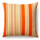"20"" Thick Stripes Outdoor Decorative Pillow in Orange"
