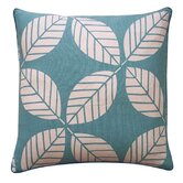 "Tiki Leaves 20"" x 20"" Pillow in Teal"