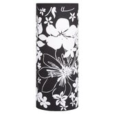 Living 2Easy Interchangeable Lamp Shade with Flower Pattern in Black