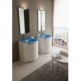 "Archeda II 27.5"" Single Curved Bathroom Vanity"