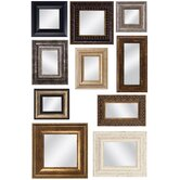 Set of 10 Mirror Assortment with Frames