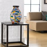 Mosaic Painter's Palette Round Vase