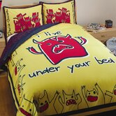 Monsters Duvet Set in Yellow and Blue