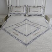 Blue Diamond Full / Queen Quilt Set