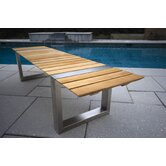 Boca Teak and Stainless Steel Picnic Bench