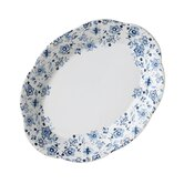 "Blue Meadows Ruffled 5.3"" Oval Platter"