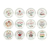 Winterberry 12 Days of Christmas Appetizer Plates