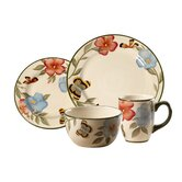 Everyday Garden Butterflies 16 Piece Dinnerware Set