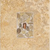 "Castle De Verre 10"" x 13"" Decorative Accent Tile in Chalice Gold"