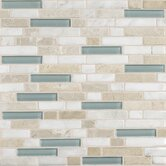 Stone Radiance 12&quot; x 12&quot; Random Mosaic Tile Blend in Whisper Green (10 Pieces)