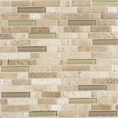 "Stone Radiance 12"" x 12"" Random Mosaic Tile Blend in Mushroom / Morning Sun (10 Pieces)"