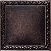 "Ion Metals 4 1/4"" x 4 1/4"" Decorative Rope Accent Tile in Oil Rubbed Bronze"