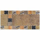 "Terra Antica 6"" x 12"" Decorative Accent Border in Oro"