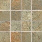 "Franciscan Slate 3"" x 3"" Unpolished Mosaic Tile in Woodland Verde"