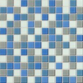 Isis 12&quot; x 12&quot; Glass Mosaic Tile in Polo Blend