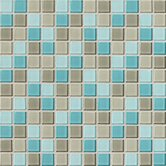 Isis 12&quot; x 12&quot; Glass Mosaic Tile in Whisper Blend
