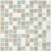 "Coastal Keystones 1"" x 1"" Mosaic Tile in Trade Wind"