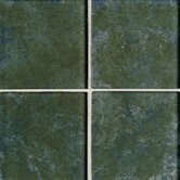 "Molten Glass 4 1/4"" x 4 1/4"" Multi-Colored Wall Tile in Rain Forest"
