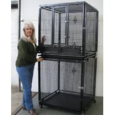 Welded Wire Kennel with Swing Out Feeder