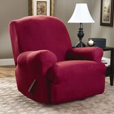 Stretch Suede Recliner T-Cushion Slipcover