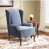 Stretch Pearson Wing Chair Slipcover (T-Cushion)