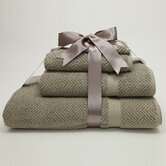 Luxury Hotel & Spa Collection Herringbone Weave 100% Turkish Cotton 4-Piece Combination