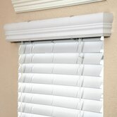 "2"" Faux Wood Blind in White - 36"" L"