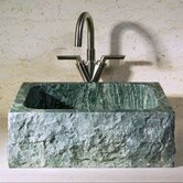 Rectangular Shape Vessel Sink with Broken Edge in Abalone Granite