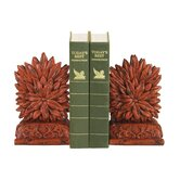 Floral Bookend in Red (Set of 2)
