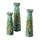 Troplical Leaf Ceramic Jars (Set of 3)