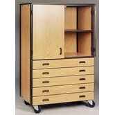 4000 Series Door/Drawer Storage Mobile Cabinet