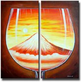 2 Piece 'Glass Mountain' Canvas Art Set
